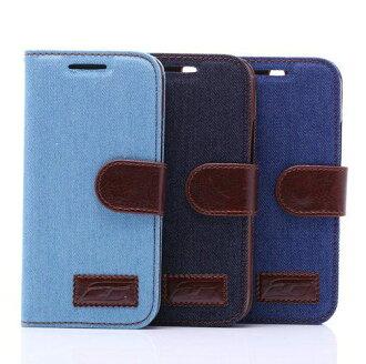 SONY Xperia Z5 牛仔布紋支架插卡皮套 索尼 E6603 側翻平板保護套 站立磁扣皮夾