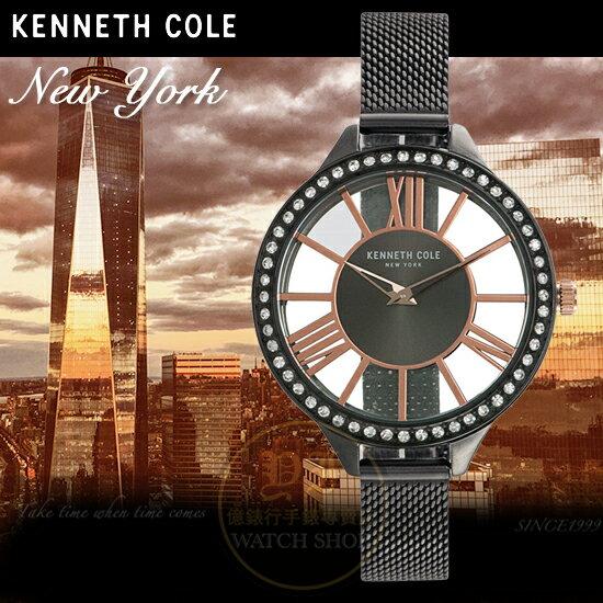 KennethCole國際品牌時尚回歸華麗晶鑽鏤空腕錶KC50184006公司貨禮物精品