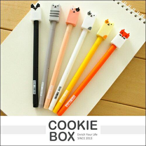 wuli baby 中性筆 原子筆 動物 造型筆 書寫 可愛 筆蓋 創意 文具 貓咪 狐狸 *餅乾盒子*