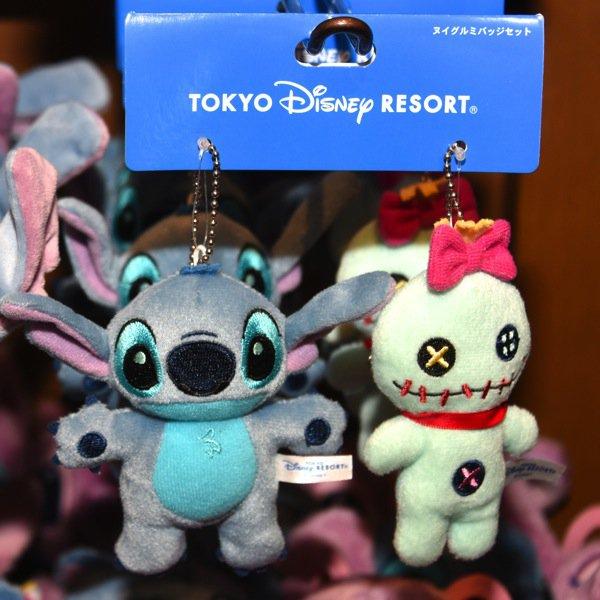 X射線【C916001】日本東京迪士尼代購- 史迪奇醜ㄚ頭雙人娃娃吊飾組,包包掛飾/鑰匙圈/DISNEY