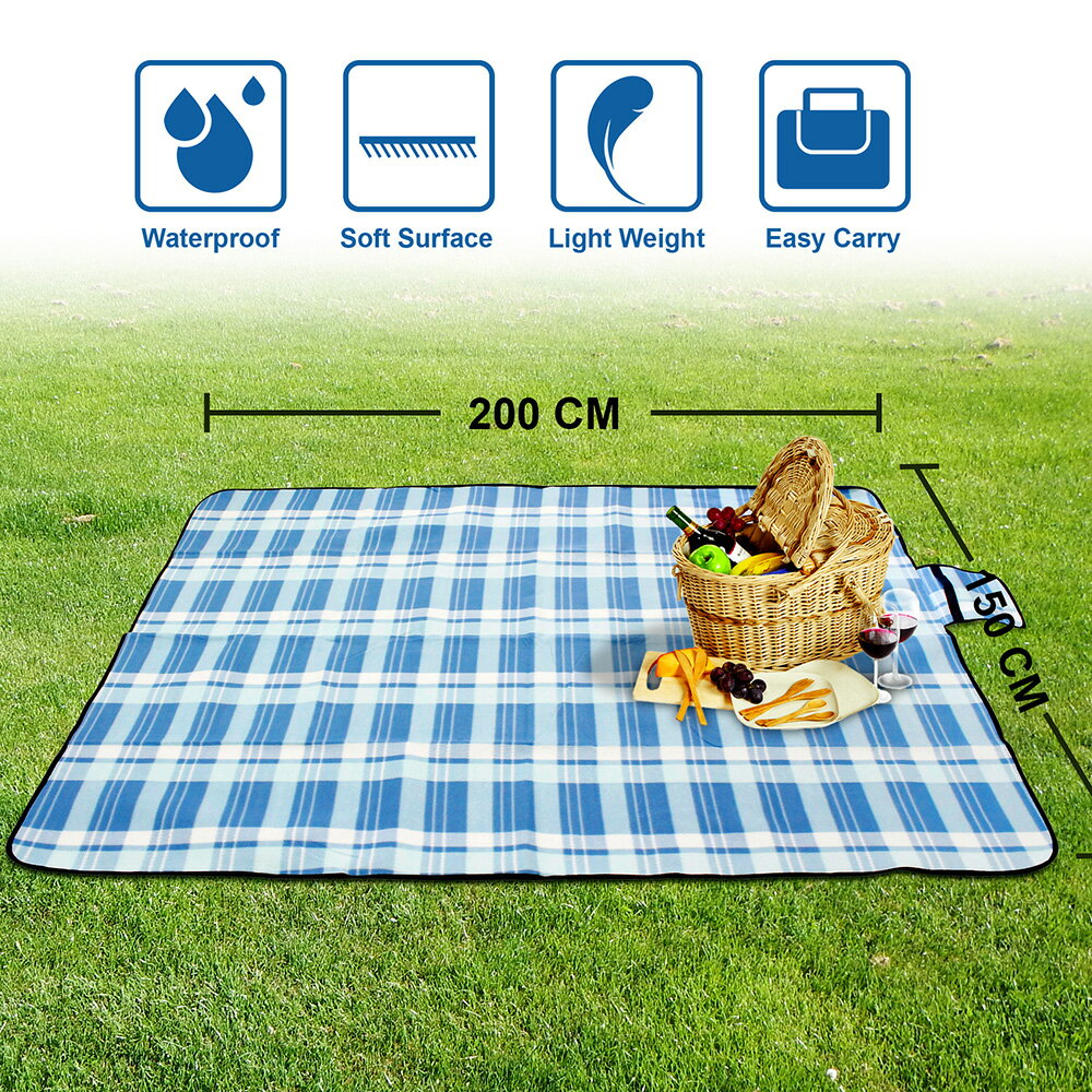 Outdoor Waterproof Picnic Blanket For Foldable Beach Mat Sleeping Pads Camping Hiking Rug 2