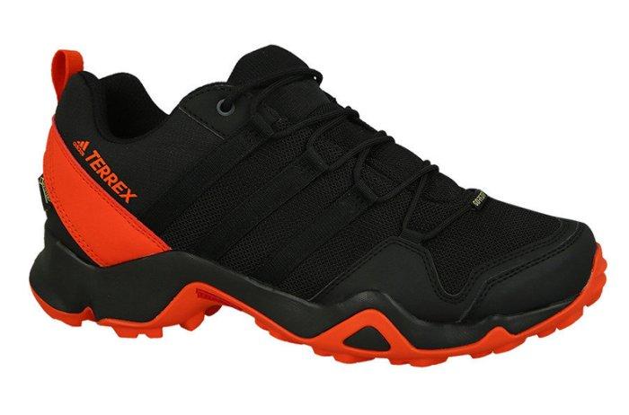 ADIDAS TERREX AX2R GTX GORE-TEX 男鞋 健走 登山 網布 透氣 舒適 黑 橘【運動世界】BB1988