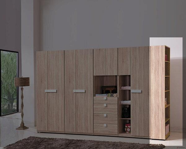 【尚品家具】HY-A146-10多莉斯系統式1尺衣櫥邊櫃