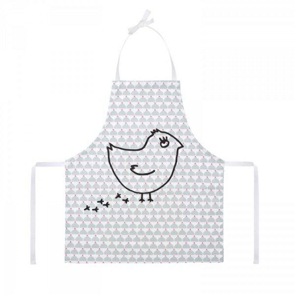 《法國 La Cocotte Paris》廚房的美好時光-孩童圍裙Chic Chick gris coquito 1