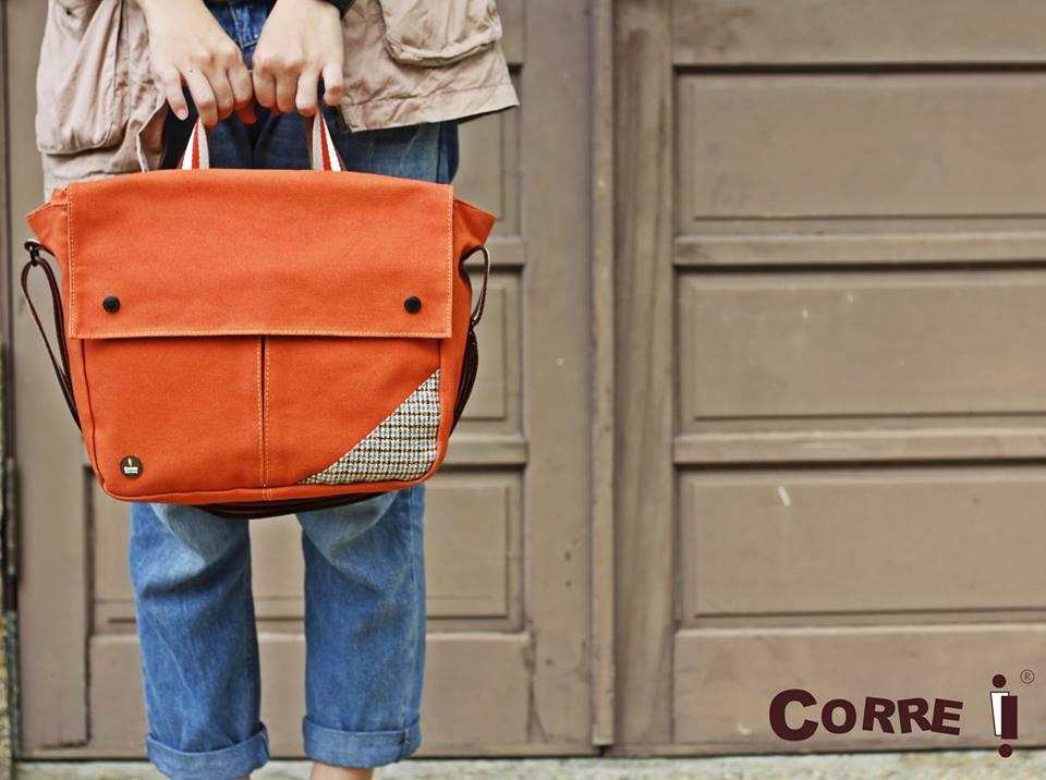 Corre【CG71072帆布毛格兩用包】 藍 / 紅 / 咖啡 / 橘 共四色 1