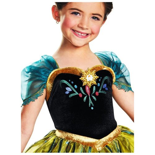 Anna Coronation Gown Deluxe Costume for Girls 1