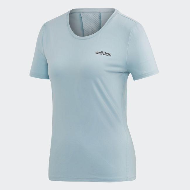 ADIDAS D2M SOLID TEE 女裝 短袖 慢跑 訓練 吸濕 排汗 透氣 藍【 世界】DU2305