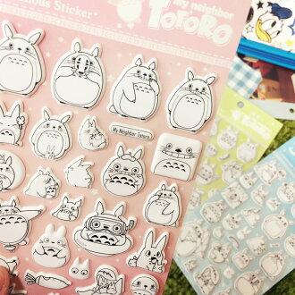 PGS7 (現貨+預購) 日本卡通系列貼紙 - 宮崎駿 龍貓 夜光 立體 貼紙 吉卜力 totoro