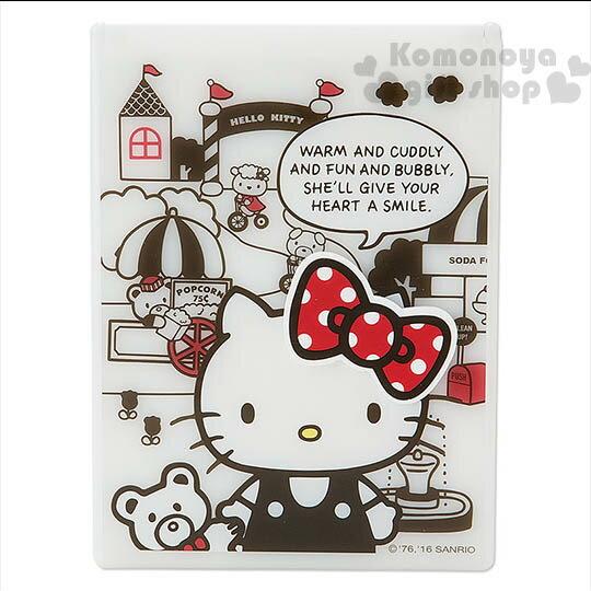 〔小禮堂〕Hello Kitty 日製立鏡折疊鏡~白.小熊.立體蝴蝶結~