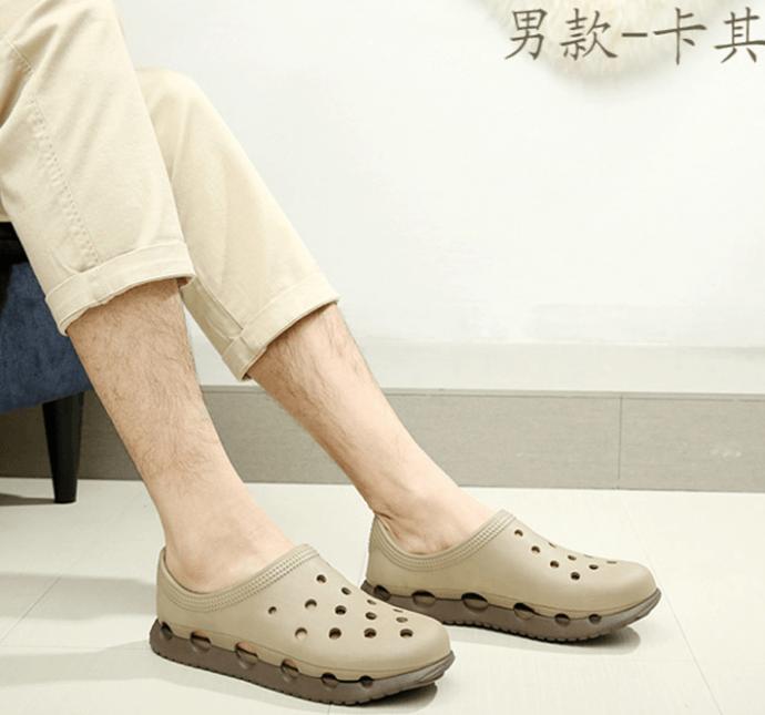 男款雙色洞洞鞋(現貨+預購)