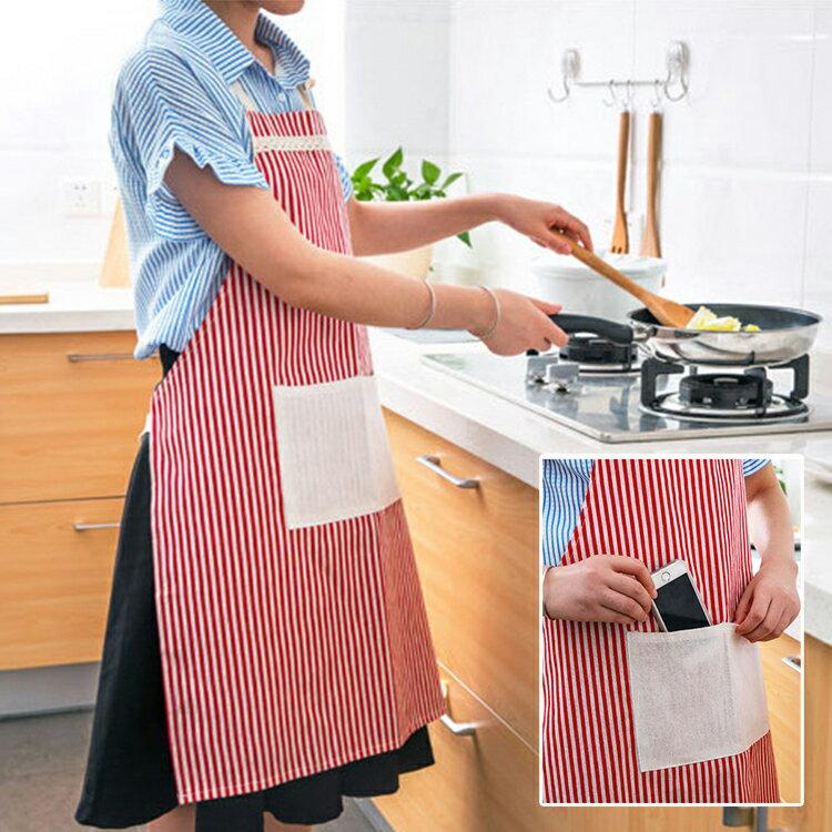 時尚簡約韓版做菜做飯圍裙 圍腰【庫奇小舖】2款