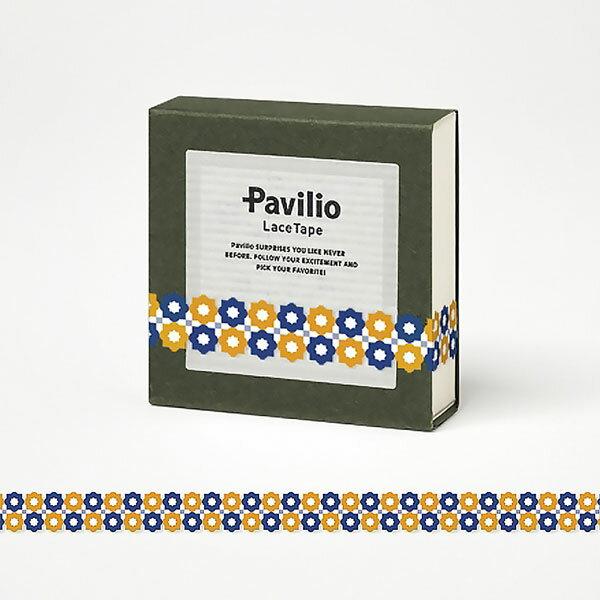 【日本Pavilio】風格膠帶MINI系列F-MI21SO藍桔繁星捲