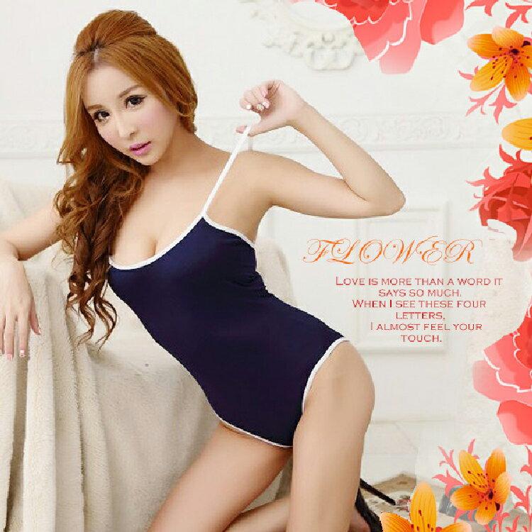 【伊莉婷】校園純愛 日式低胸體育服 藍色 CF-20151454 校園 連身 泳裝 死庫水 水著衣