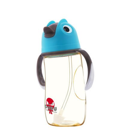 PUKU 藍色企鵝 PPSU 企鵝滑蓋學習水杯280ml-水色【悅兒園婦幼生活館】 2