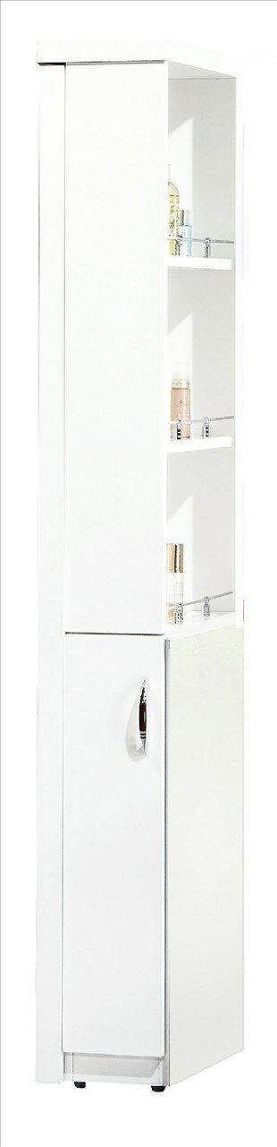 【石川家居】KF-599-1 妮可拉白色側拉立鏡櫃 (不含其他商品) 需搭配車趟
