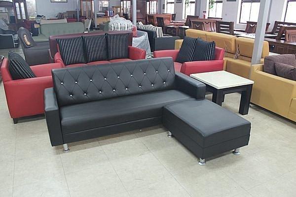 【石川家居】SA-35 巧鑚3人座+腳椅 L型沙發 (兩件) 可換色 台灣製造 台中以北搭配車趟免運 #101系列之203