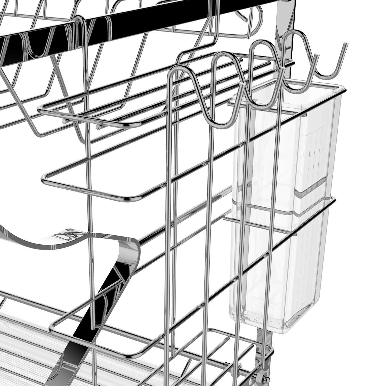 Kitchenware Tools Chef 2 Level Dish Rack Storage with Drying Basket 4