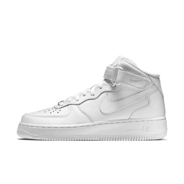 NIKE Wmns Air Force 1 Mid 07 LE 女鞋 休閒 高筒 皮革 全白 【運動世界】 366731-100
