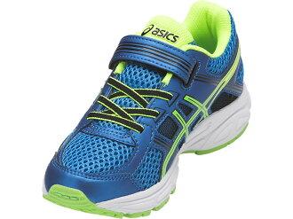 [陽光樂活]ASICS 亞瑟士 PRE-Contend 4 PS 兒童慢跑鞋 C709N-4385(藍x綠)
