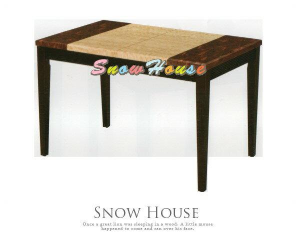 ╭☆雪之屋居家生活館☆╯AA742-04紅龍玉石面胡桃餐桌(326)(DIY自組)飯桌三款可選