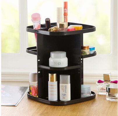 (預購)360度 可旋轉 化妝品收納盒 收納架 桌面整理