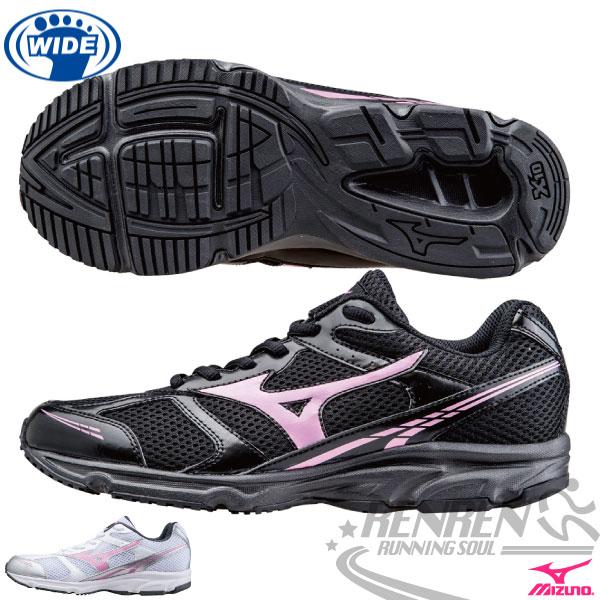 MIZUNO 美津濃 女寬楦慢跑鞋(黑*粉) Maximizer 17 入門款 初學慢跑/健走/散步