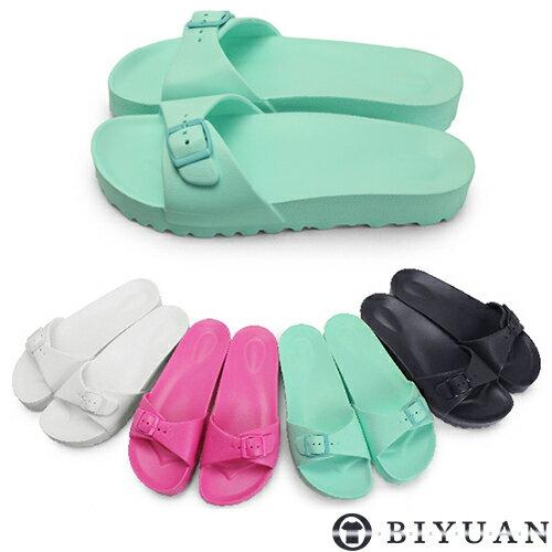 女鞋 MIT涼拖鞋~Q1HC01~OBIYUAN 夏天 輕量防水拖鞋共4色