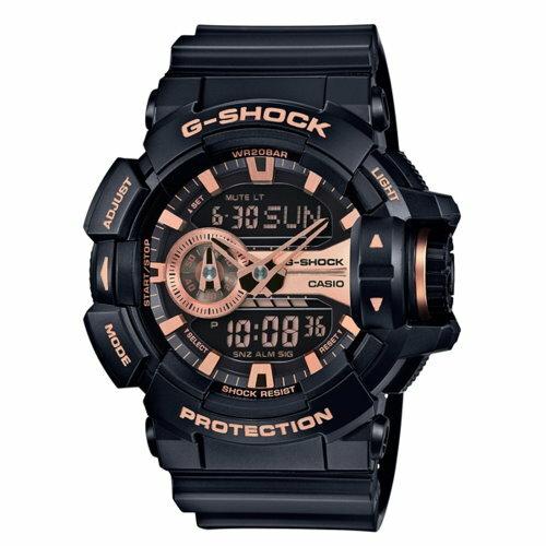 CASIO G~SHOCK 完美街頭雙顯 錶 黑 GA~400GB~1A4DR ~  好康
