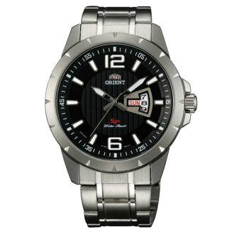 Orient 東方錶(FUG1X004B)運動風石英腕錶/黑面43mm