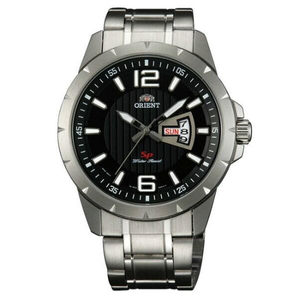 Orient東方錶(FUG1X004B)運動風石英腕錶黑面43mm
