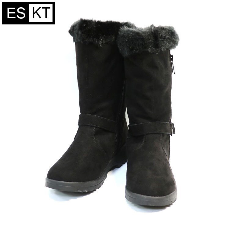 ESKT 女中筒雪鞋SN225  城市綠洲 (雪靴、防潑水、刷毛、冰爪) 2