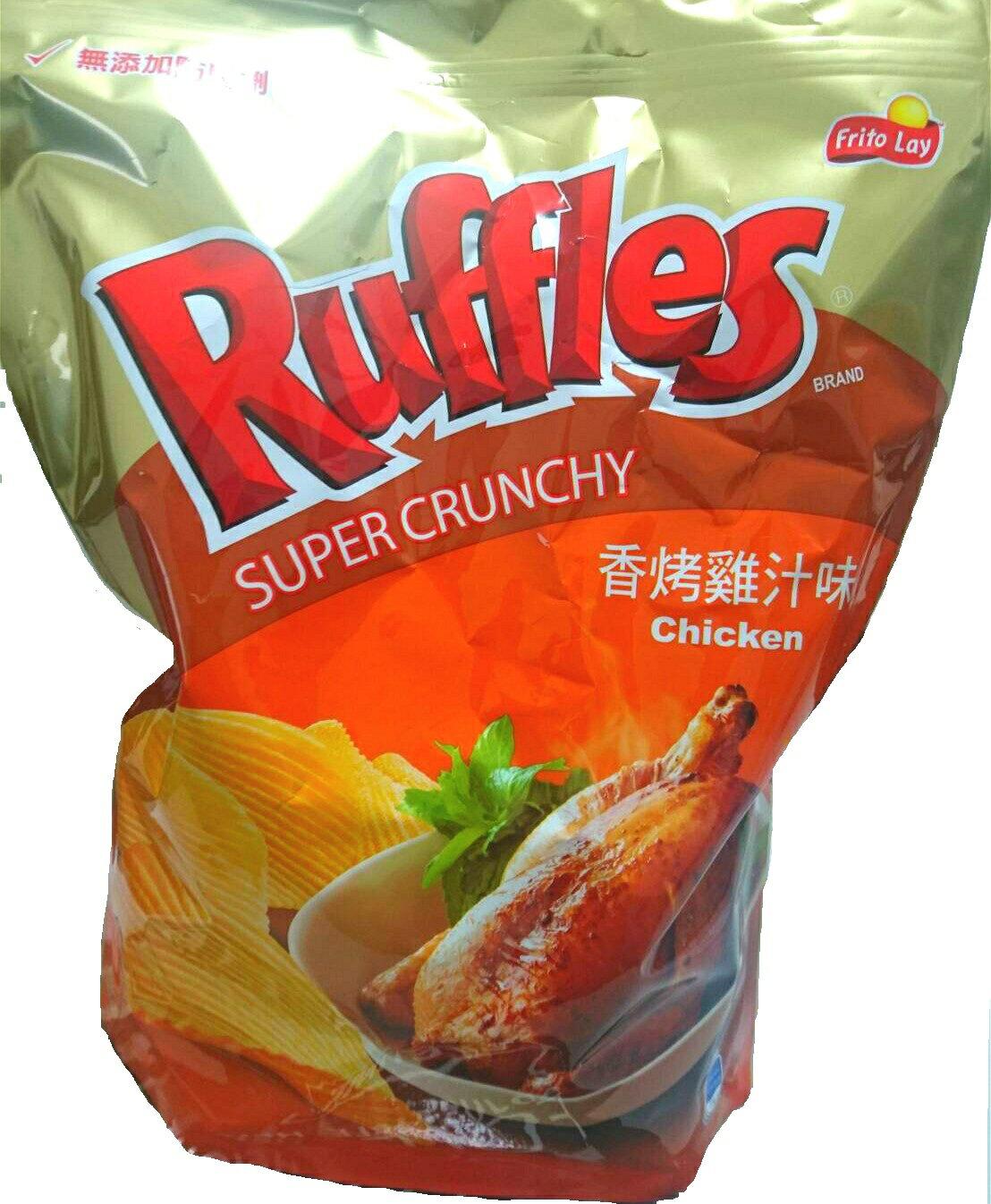 樂事 團購價 樂事波樂厚切洋芋片 Ruffles 香烤雞汁波浪馬鈴薯口味獨特零食餅乾拜拜普渡