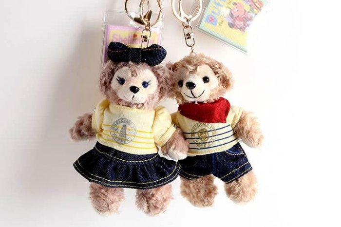 =優生活=【牛仔款】日本東京迪士尼Duffy達菲熊ShellieMay 雪莉玫 14cm站熊 鑰匙圈 吊飾 絨毛娃娃 玩偶