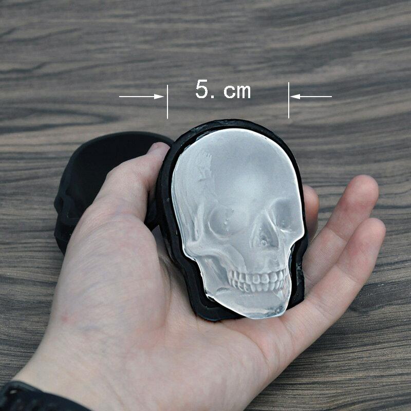 骷髏頭冰模矽膠單孔冰格萬聖節骷髏頭冰格加厚恐怖制冰器制冰模具