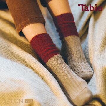 【靴下屋Tabio】寬鬆舒適羊毛中筒短襪日本職人手做