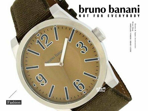 【完全計時】手錶館│德國時尚原裝bruno banani 軍綠色極簡 重金屬 飾品 BR21107 消光圓形 無印風
