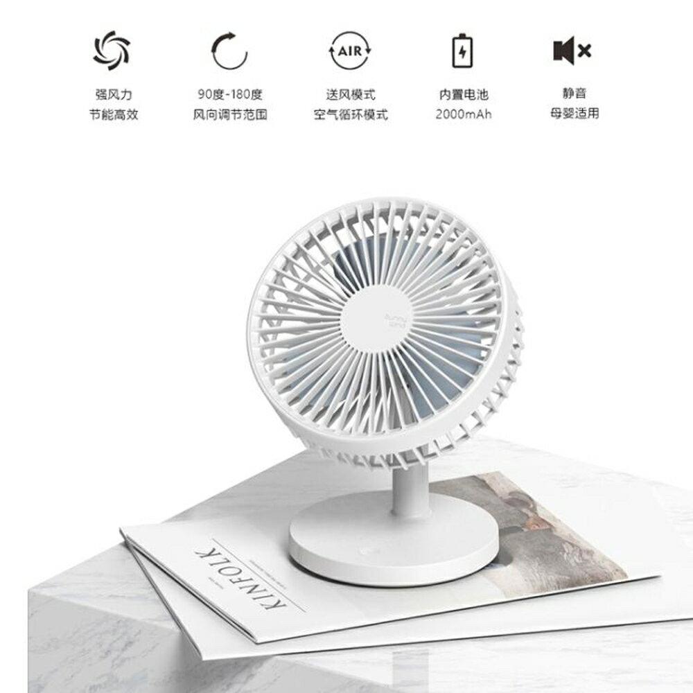 可充電小風扇小型台式電扇便攜式迷你宿舍床上靜音學生辦公室桌面  名購居家 雙12購物節