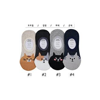 韓國貓咪造型隱形襪-多款任選 (SOCK-061-F)