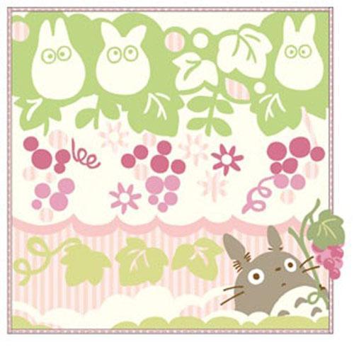 【百倉日本舖】日本進口TOTORO龍貓小方巾-葡萄花園/洗臉巾