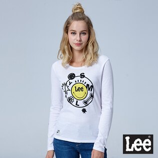 Lee Jeans tw:LeeLEEXSMILEY聯名長袖圓領TEE-白色