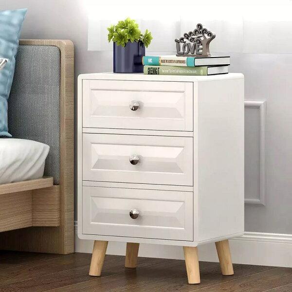 !新生活家具!《斯多福》白色DIY床頭櫃三斗櫃二斗櫃玄關櫃功能櫃置物櫃收纳櫃斗櫃美式北歐