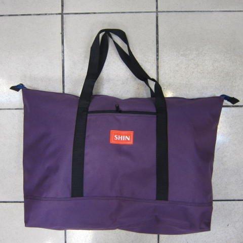 ~雪黛屋~SHIN 環保批發購物袋 折疊收納備用旅行袋 可折疊收納不占空間超輕量防水尼龍布 深紫