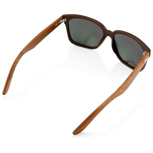 36812f72ed2 Classic Eyewear Vintage Retro Bamboo Wooden Sunglasses Brown Frame with Gold  Lens 2