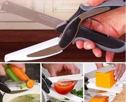 【省錢博士】德國刀片技術便利智慧剪 / 剪刀+砧板二合一 159元