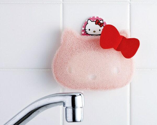 晨光進口生活用品:【晨光】日本製HelloKitty粉色凱蒂貓臉型造型海綿(012942)【現貨】