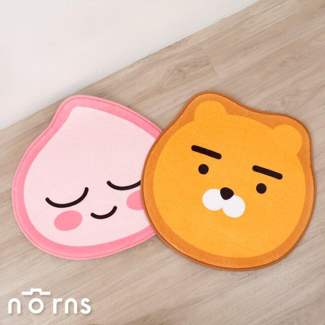 Kakao Friends臉型腳踏墊- Norns 台灣正版授權 Ryan萊恩 Apeach 桃子 防滑吸水地墊地毯 0