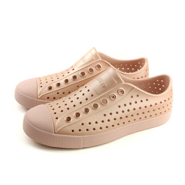 nativeJEFFERSONMETALLIC洞洞鞋橘色金屬男女鞋11100117-5966no793