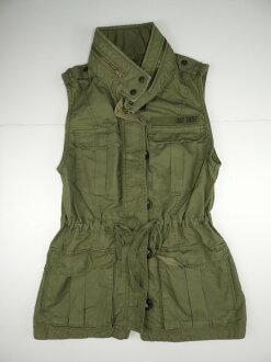 【衣凡卡時尚】全新真品-AF軍裝風背心外套