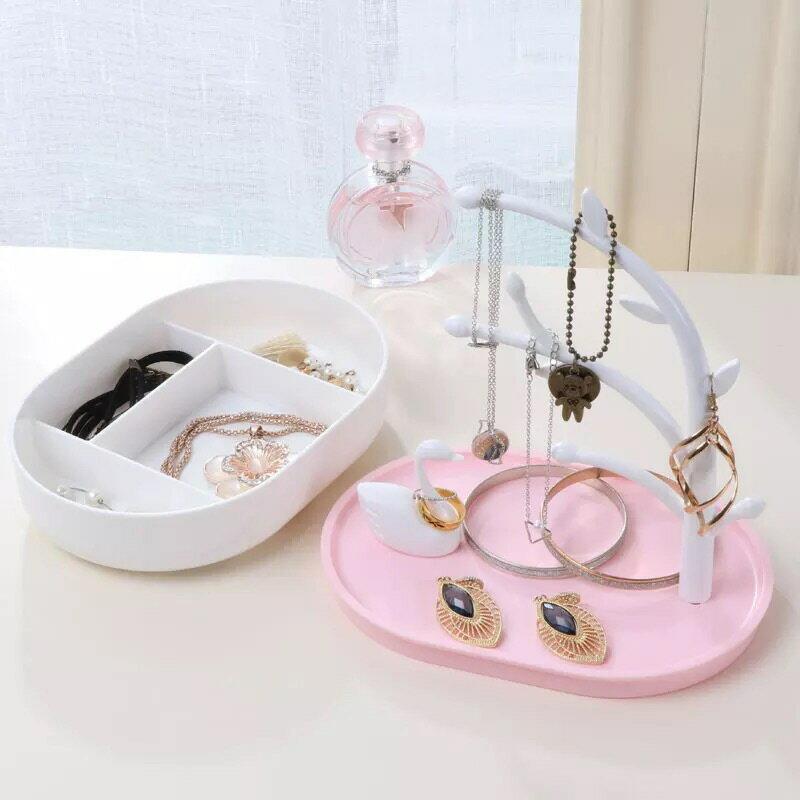 ❤️天鵝飾品收納擺件❤️耳環收納 耳環展示架 收納架 收納盒 飾品盒 辦公室小物 拍照道具