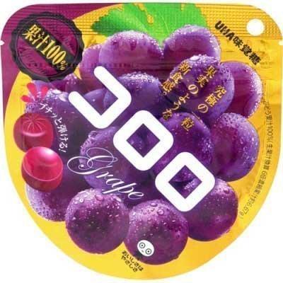 [限時特賣][人氣日本零食]UHA味覺糖100%果汁葡萄軟糖 40g *賞味期限:2017/09/25*